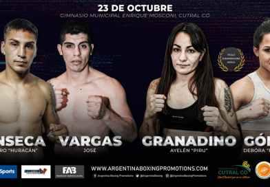Granadino vs. Gómez por cetro Sudamericano este sábado por TyC Sports
