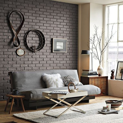 industrial living room interior
