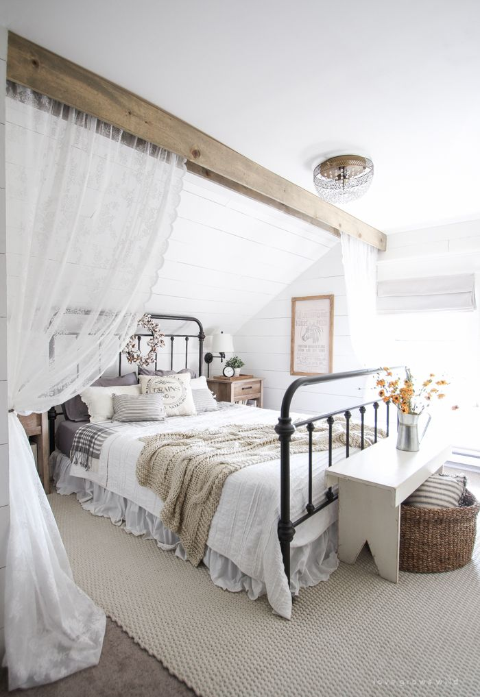 country style master bedroom decorating