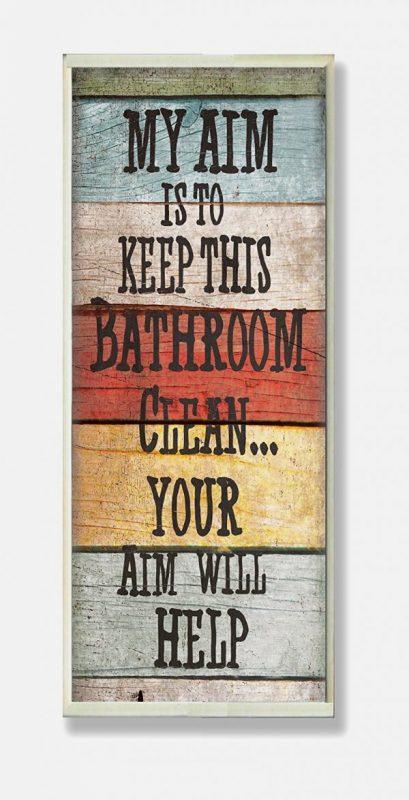 Gray Bathroom Wall Decor