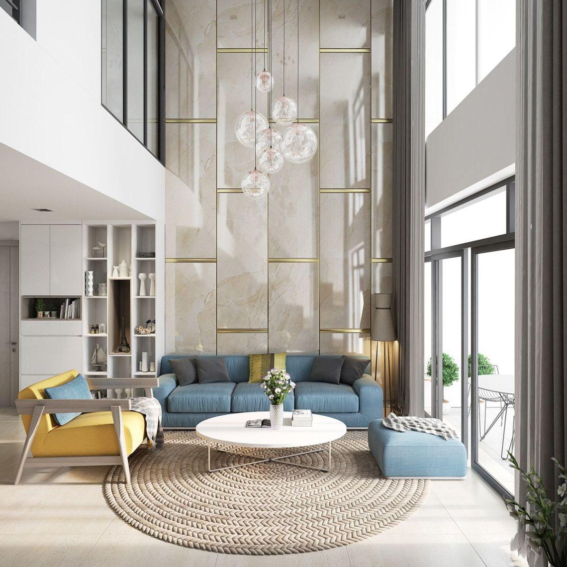 Traditional Minimalist Living Room