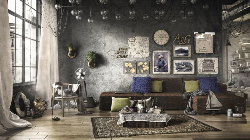 industrial living room decorating ideas