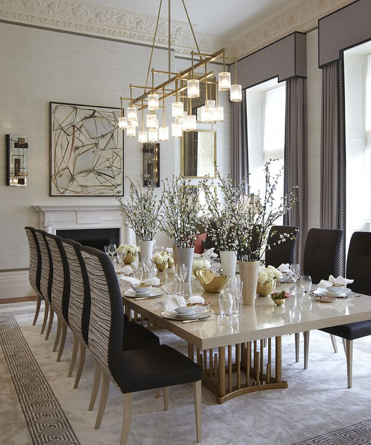 ideas to decorate a dining room table