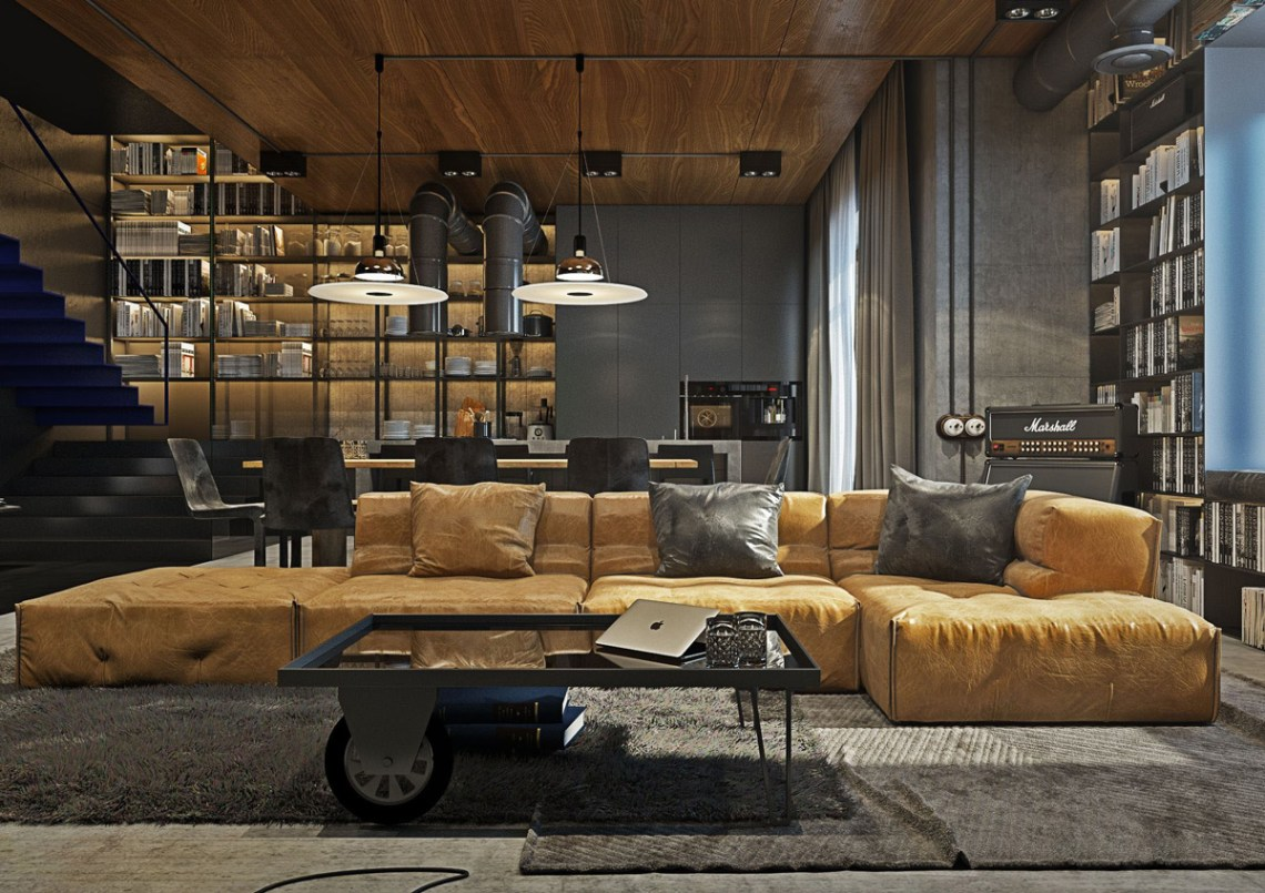 √ 47+ Industrial Living Room Decor Ideas You MUST SEE