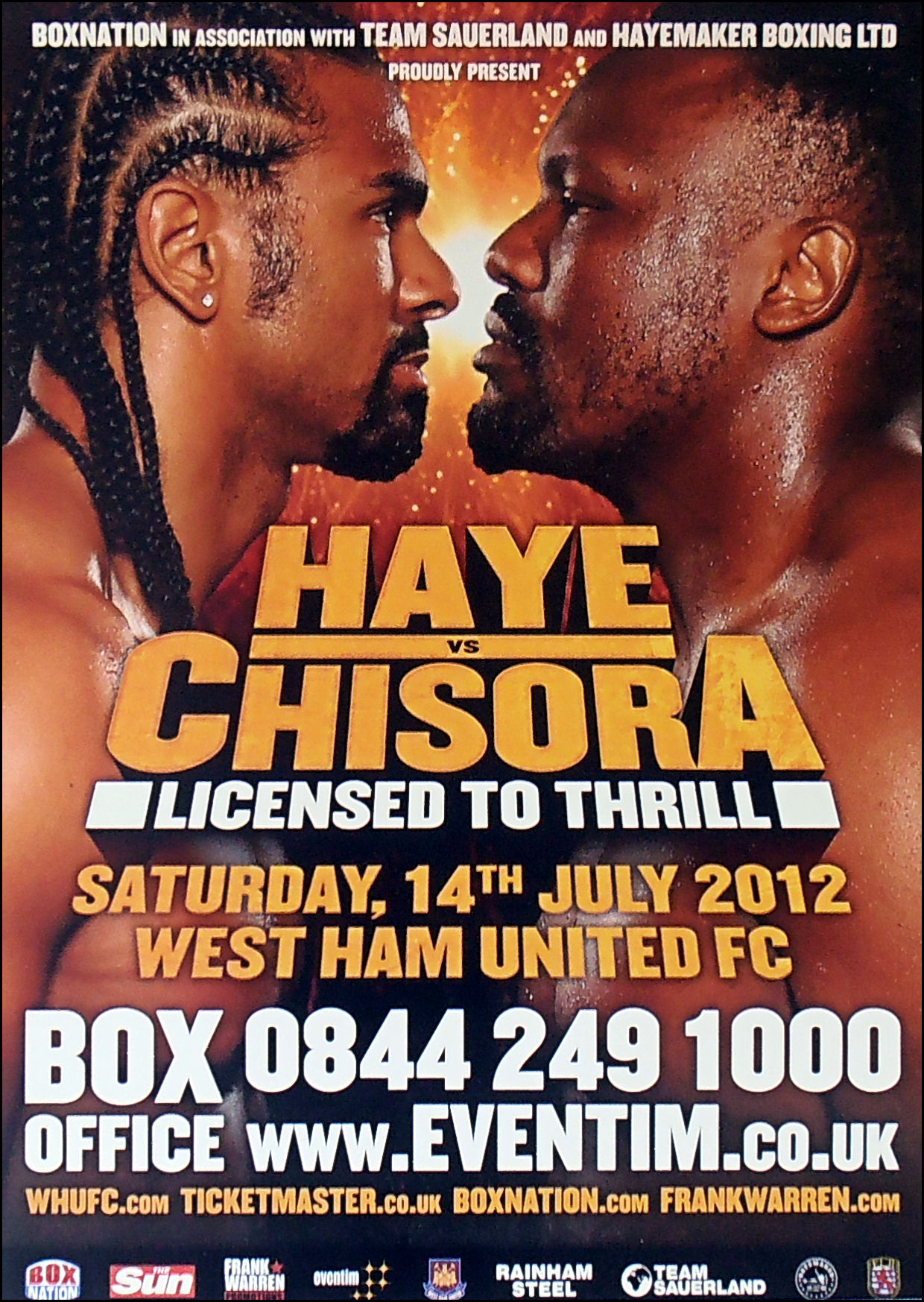 David Haye vs.  Dereck Chisora