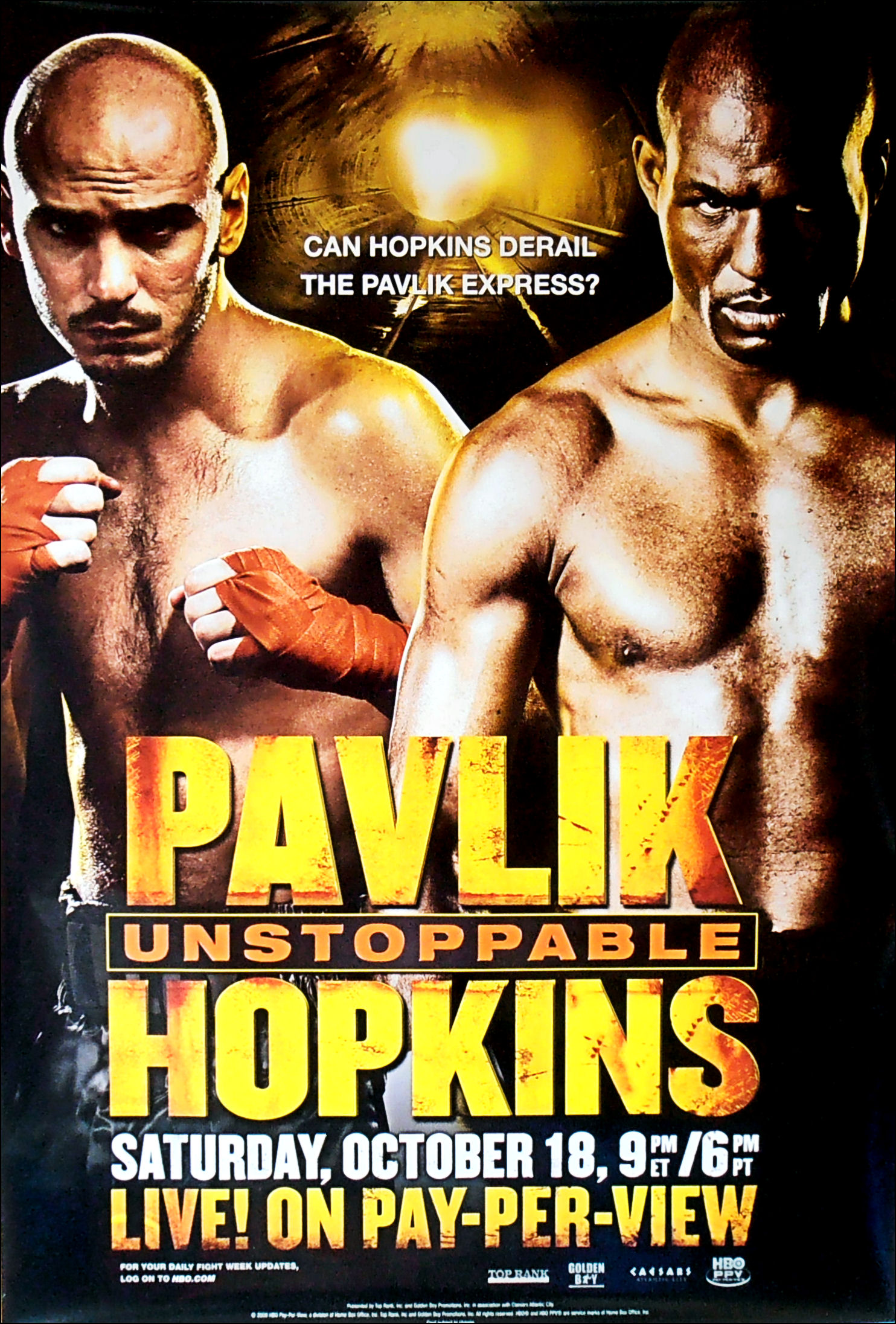 Kelly Pavlik vs. Bernard Hopkins