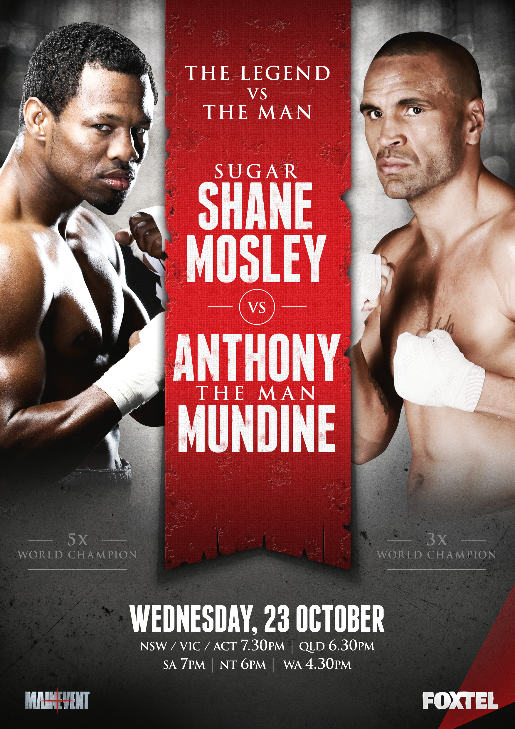 Sugar Shane Mosley vs. Anthony Mundine