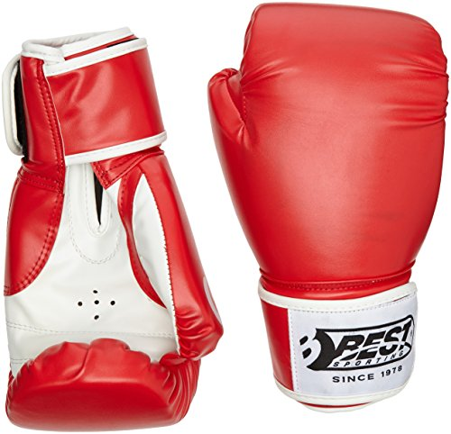 Best Sport Competition Boxing Gloves - Red, 10 oz