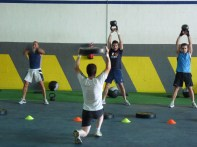 Working out at CrossFit ALC. Alicante, Spain.