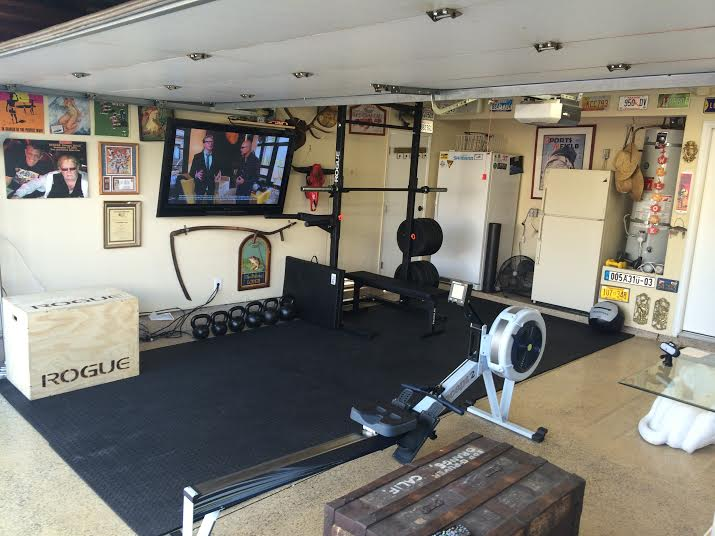 W garage gym custom garage gym set up by rogue fitness rogue