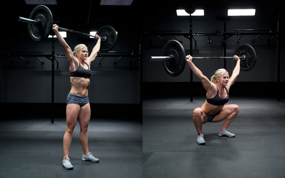 Crossfit Overhead squat for core strength