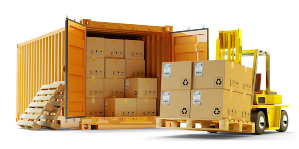 container loading for delivery