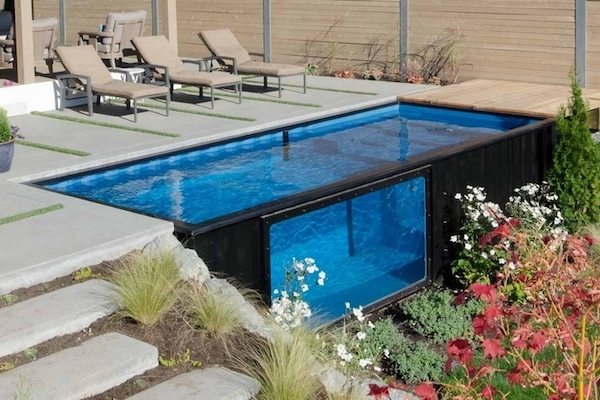 sleek affordable container swimming pool