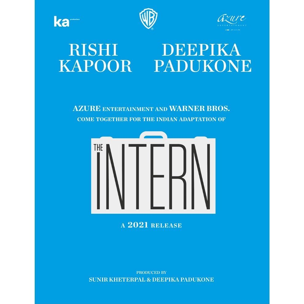 AZURE Entertainment & Warner Bros. To Partner For The Indian Adaptation Of THE INTERN