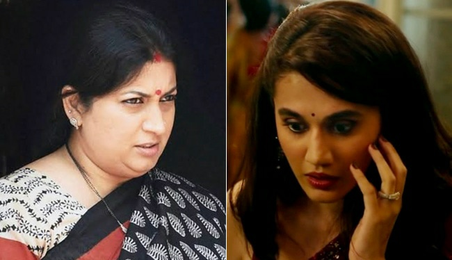 Smriti Irani Gives Shout Out To Taapsee Pannu's THAPPAD
