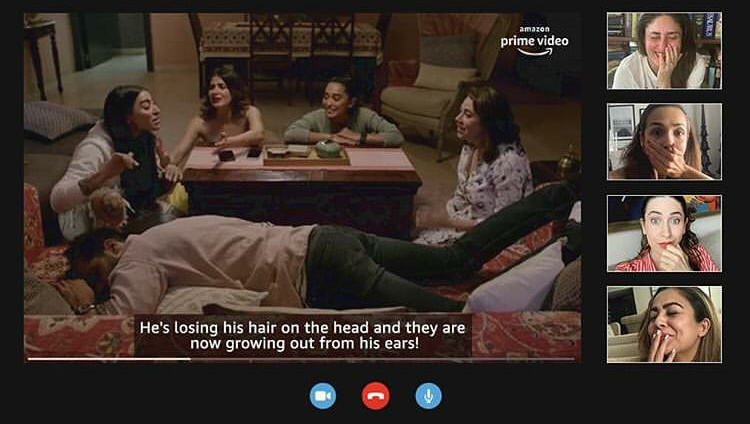 Kareena Kapoor Khan & Her Girl Gang Watch Amazon Prime Videos' Four More Shots Please! Season 2 Together Via A Video Call!