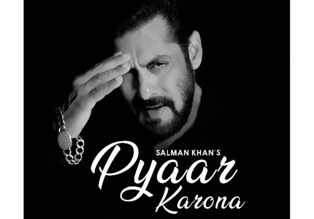 Salman Khan's First Song 'Pyaar Karona' Is OUT On His YouTube Channel!