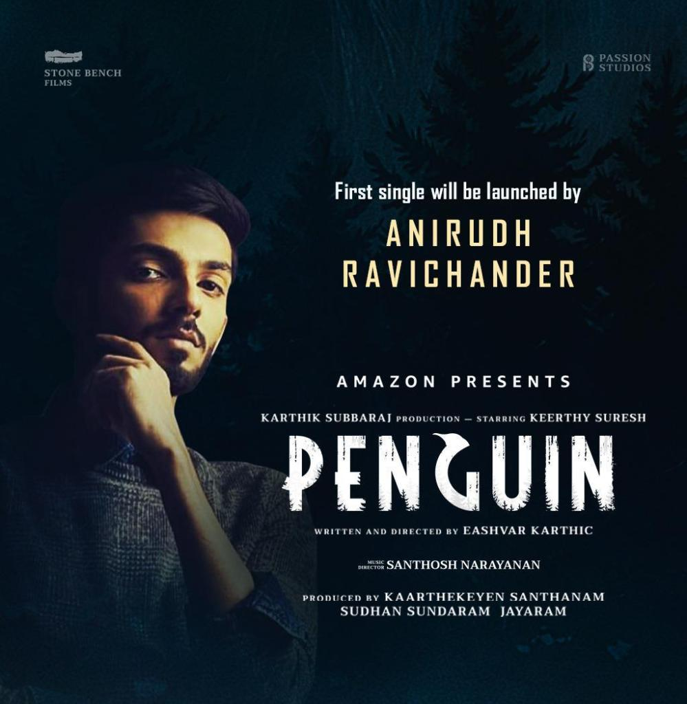 The soulful Track For Penguin, Composed By Santhosh Narayanan, Released In 3 Languages aby Anirudh Ravichander Today
