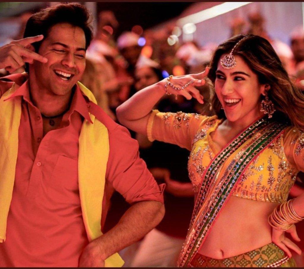 The Peppy Romantic Track 'TERI BHABHI' From COOLIE NO.1 Starring Varun Dhawan And Sara Ali Khan