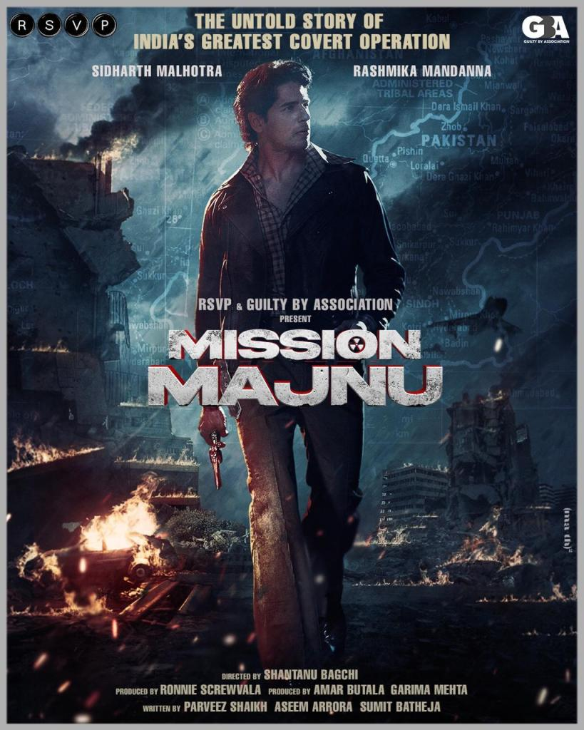 RSVP & Guilty By Association To Collaborate For An Espionage Thriller Titled Mission Majnu Starring Sidharth Malhotra & Rashmika Mandanna, First Look OUT!