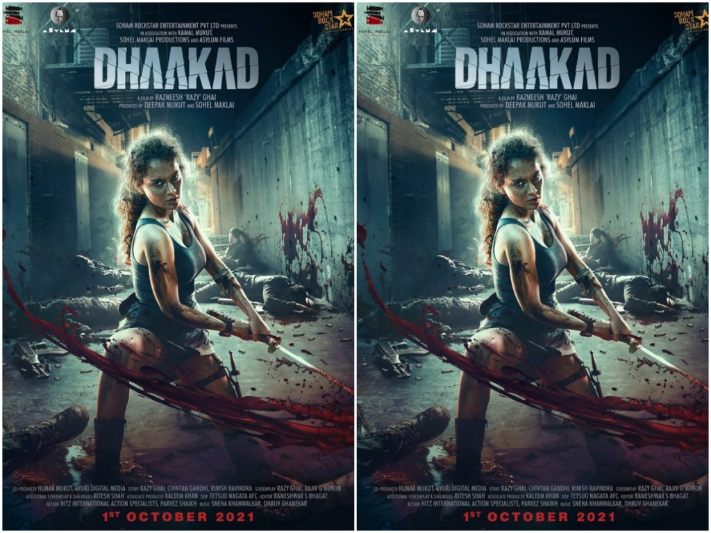'Dhaakad': Kangana Ranaut Announces Release Date Of Her  Film With A New Poster