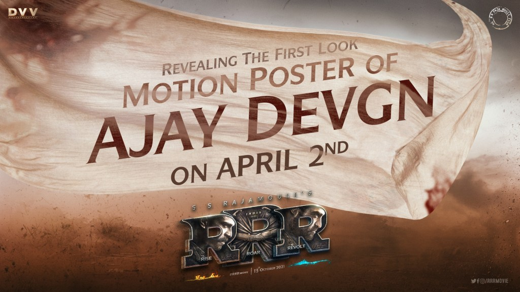 Ajay Devgn's Much-Awaited Look From SS Rajamouli's RRR To Release On April 2nd!