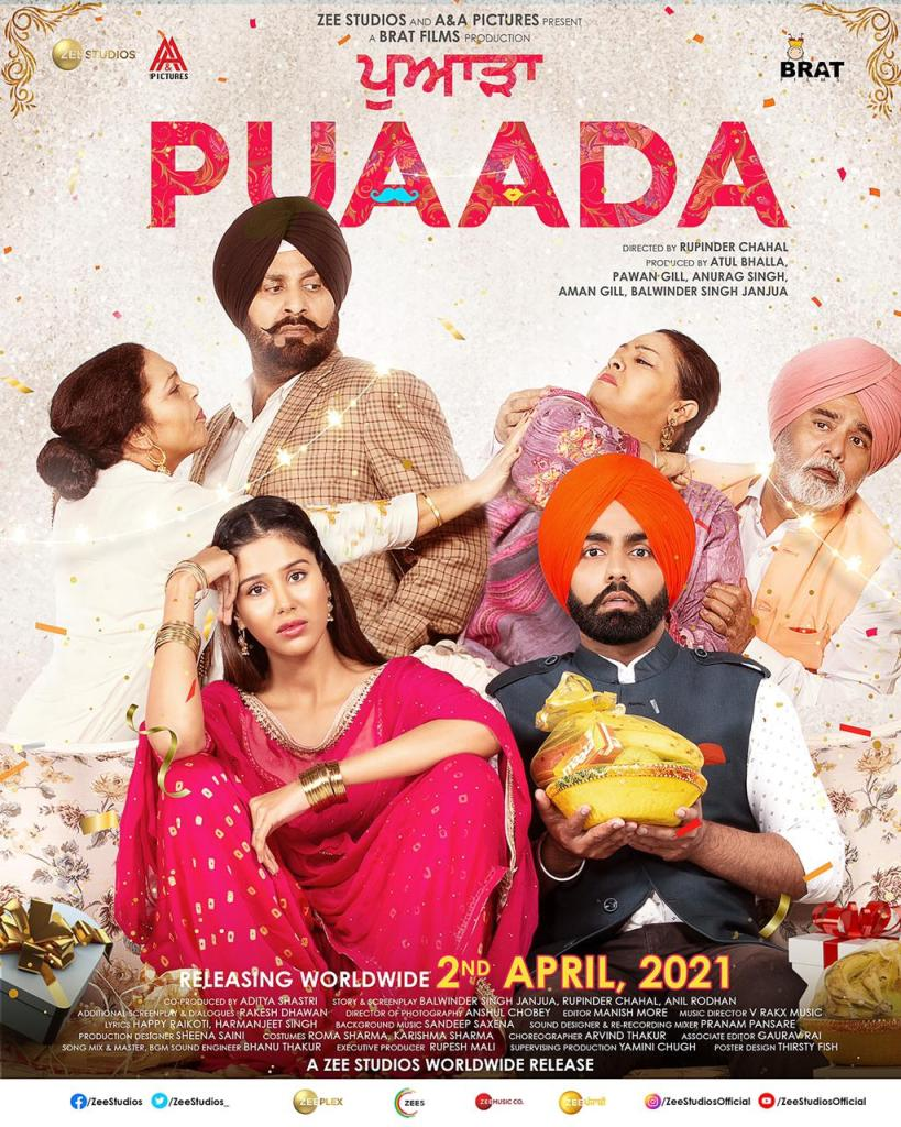 Ammy Virk & Sonam Bajwa Starrer Puaada To Hit Theatres This Good Friday, 2nd April, 2021!!