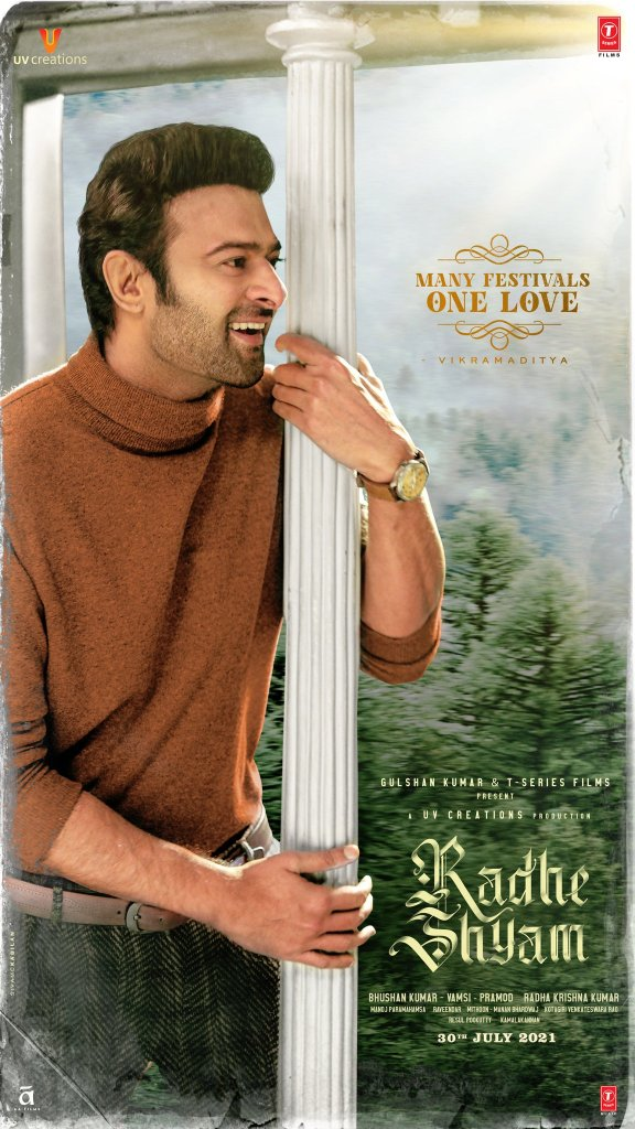 Team Radheshyam Celebrates And Wishes 'Many festivals, one love' With All Festive & Unique Posters Starring Prabhas