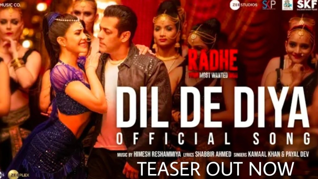 Teaser Out Now: Dil De Diya From Salman Khan's Radhe Promises Music, Entertainment & A Very Special Appearance By Jacqueline Fernandez