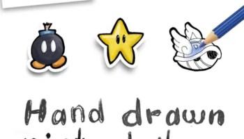 Hand Drawn Nintendo Items Free Printables