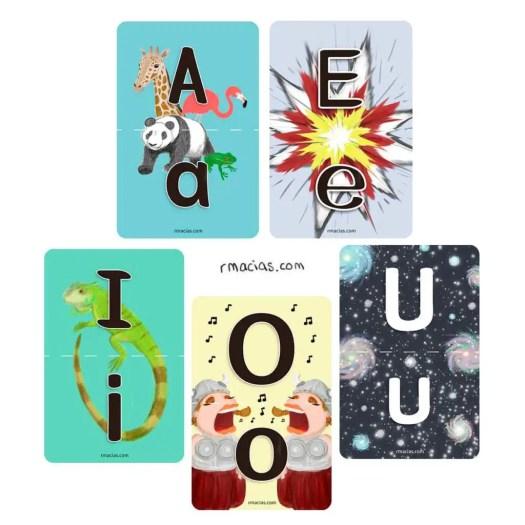 Making of: Upper-Lower Case Match Vowels (Multilingual Flashcards ) by kids activities designer Rodrigo Macias