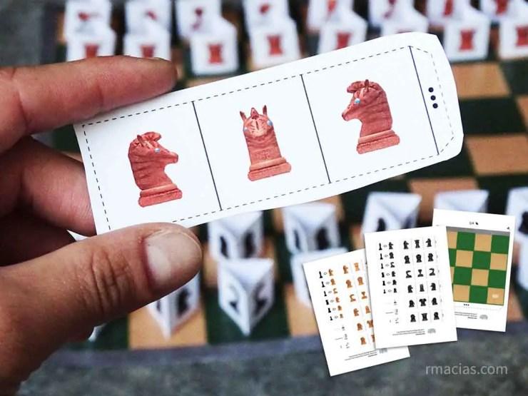 Free printable boardgame: Animals Chess for Kids by Kids activities designer Rodrigo Macias
