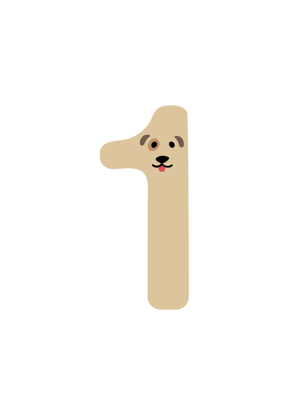 1-10-multilingual-animal-number-one-dog-illustration-free-numbers ...
