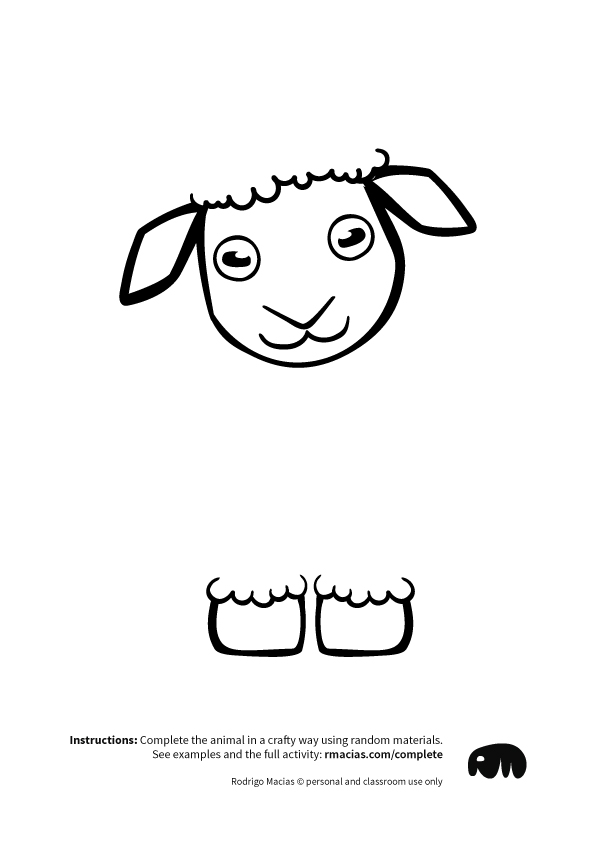 cute-woolless-sheep-front-view-drawing-free-coloring-page