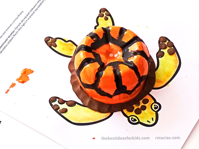 Art Supplies And Turtle From Complete The Animals Game