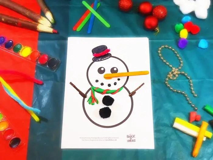 Muneco De Nieve Snowman Craft Idea For Preschool Kids Complete The