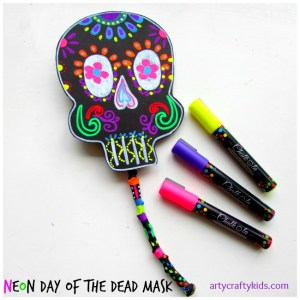 Neon Day of The Dead Mask By Arty Crafty Kids