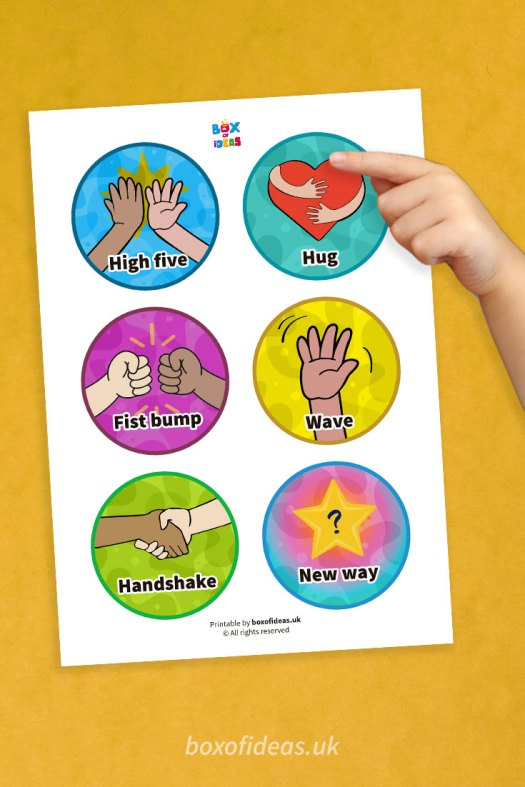 Morning greetings choices signs for Kindergarten and video examples of teachers using a morning greeting system with their students.