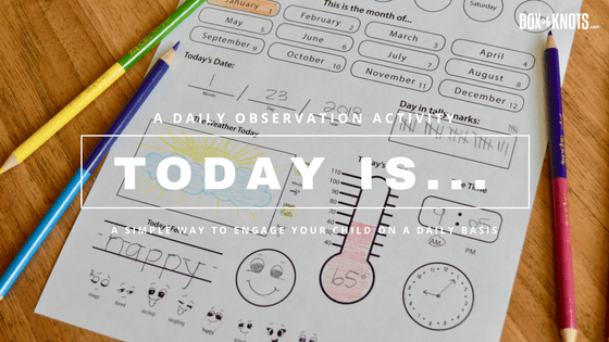 A Daily Observation Activity to Engage Your Child on a Daily Basis