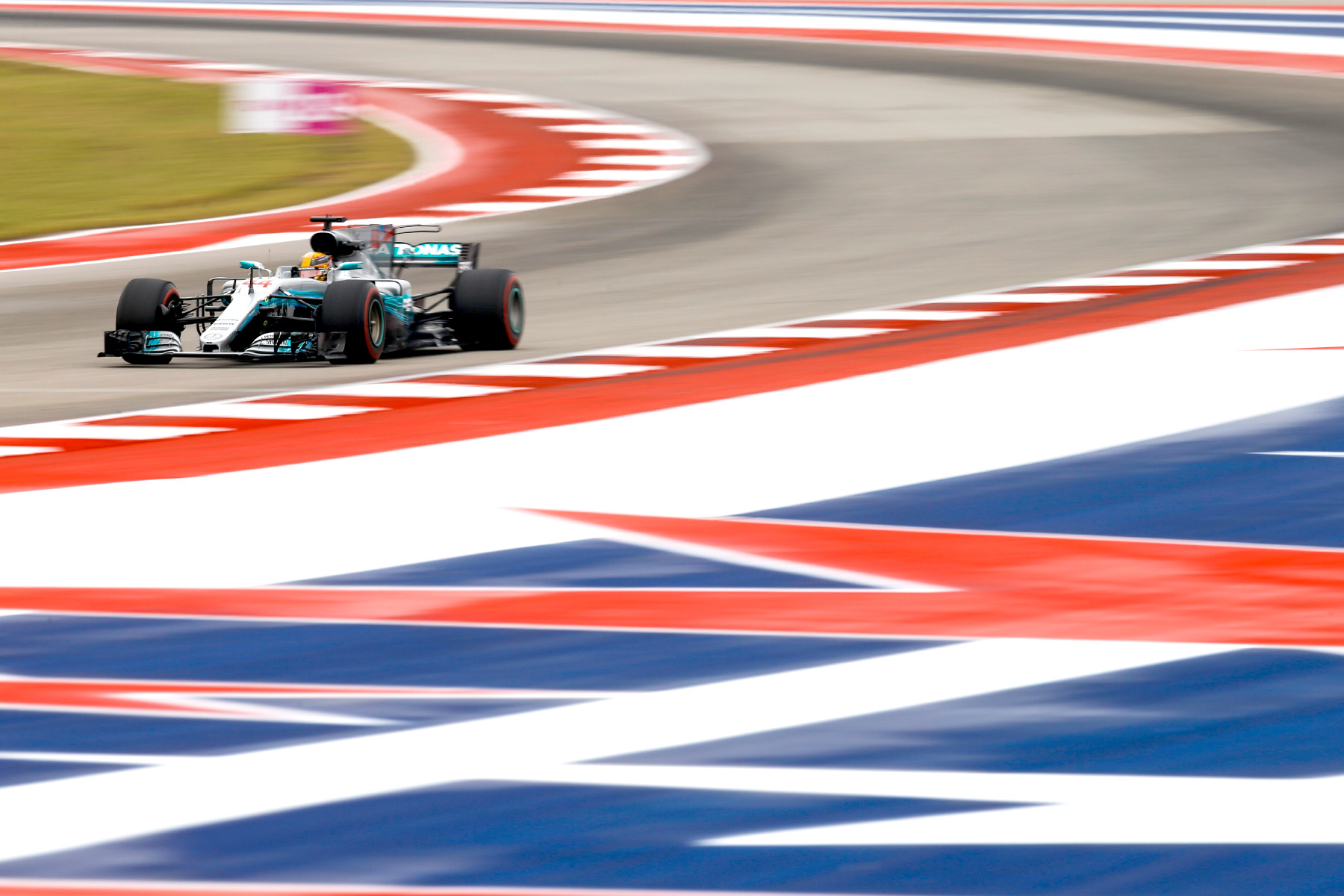 Lewis Hamilton on track at the 2017 United States Grand Prix