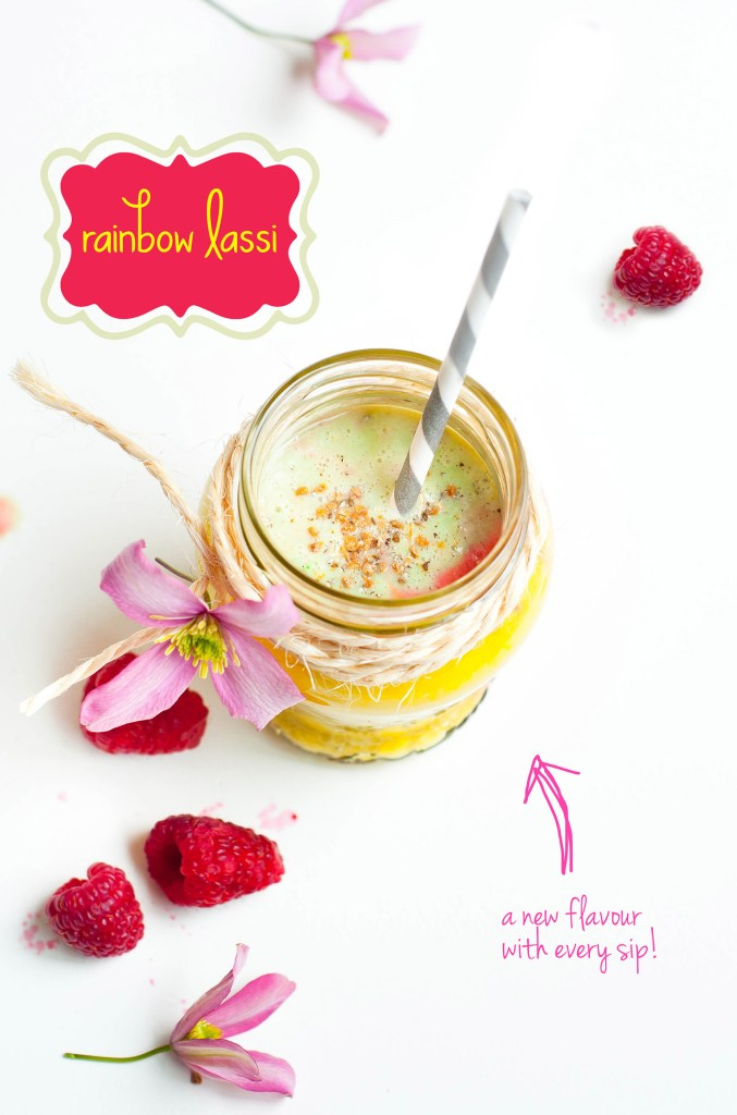 Rainbow Lassi/Smoothie