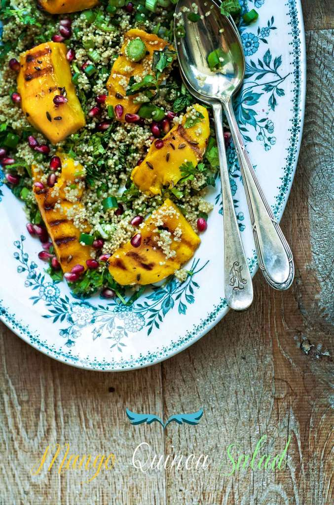 Mango Quinoa Salad with Ginger Dressing