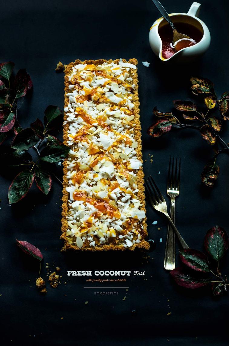 Fresh Coconut Tart I Boxofspice