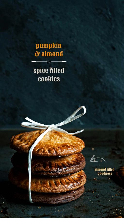 Pumpkin & Almond Spice Filled Cookies