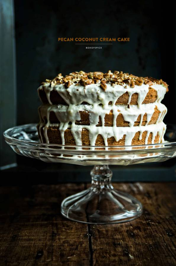 Pecan Coconut Cream Cake