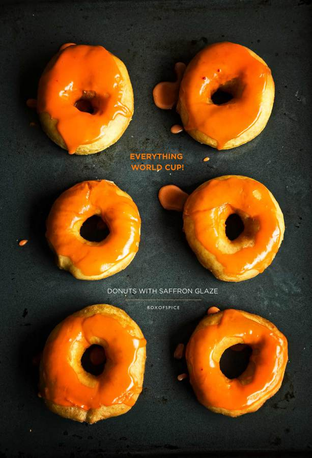 Donuts with a Saffron Glaze