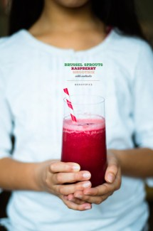 Brussel Sprouts and Raspberry Smoothie For Williams-Sonoma Smoothie week