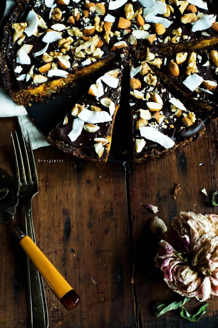 Chocolate Gajar Halwa Pie I Boxofspice
