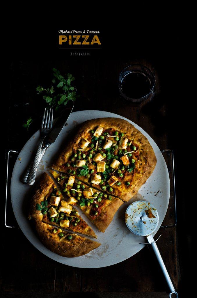 Matar/Peas and Paneer Pizza