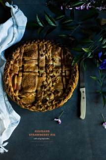 Strawberry Rhubarb Pie with Curry Leaf Butter
